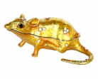 Bejeweled Golden Rat Statue
