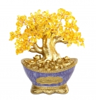 Citrine Tree in Purple Money Pot