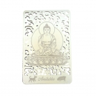 Bodhisattva for Dog & Boar (Amitabha) Printed on a Card in Gold