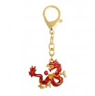 Fire Dragon Holding Fireball Keychain
