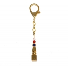 Five Element Pagoda With Om Ah Hum Keychain