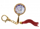 9-Tailed White Fox Love Mirror Keychain