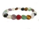 Heart Shaped Assorted Stone Bracelet