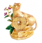 Golden Rat Holding Coin with Your Luck Has Arrived