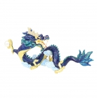 Bejeweled Imperial Celestial Blue Water Dragon