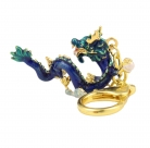 Celestial Water Dragon Amulet Keychain