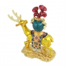 Healing Deer Carrying the Vase of Longevity with Linzhi