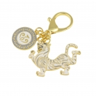 White Tiger Lunar Mansion Talisman Keychain