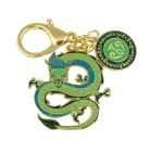 Green Dragon Lunar Mansion Talisman Keychain