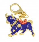 Asset Wealth Bull Keychain Amulet