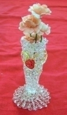 Small Glass Vases w/ Flowers