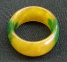 Yellow Jade Rings