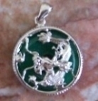 Jade Dragon Pendants