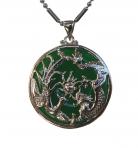 Jade Dragon Phoenix Pendants