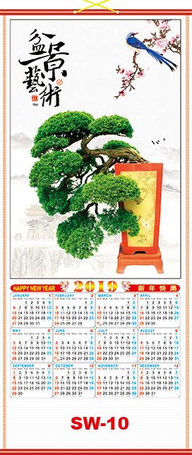 Chinese scroll calendar 10